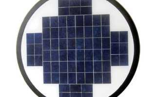 Обзор парковых фонарей на солнечных батареях