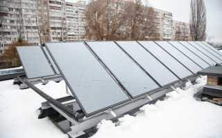 Применение солнечного коллектора для отопления дома