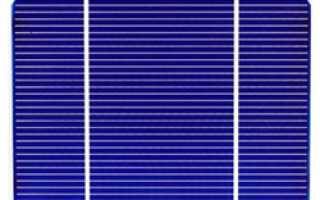 Монокристаллические ячейки для солнечных батарей
