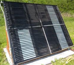 собранный самодельный солнечный коллектор