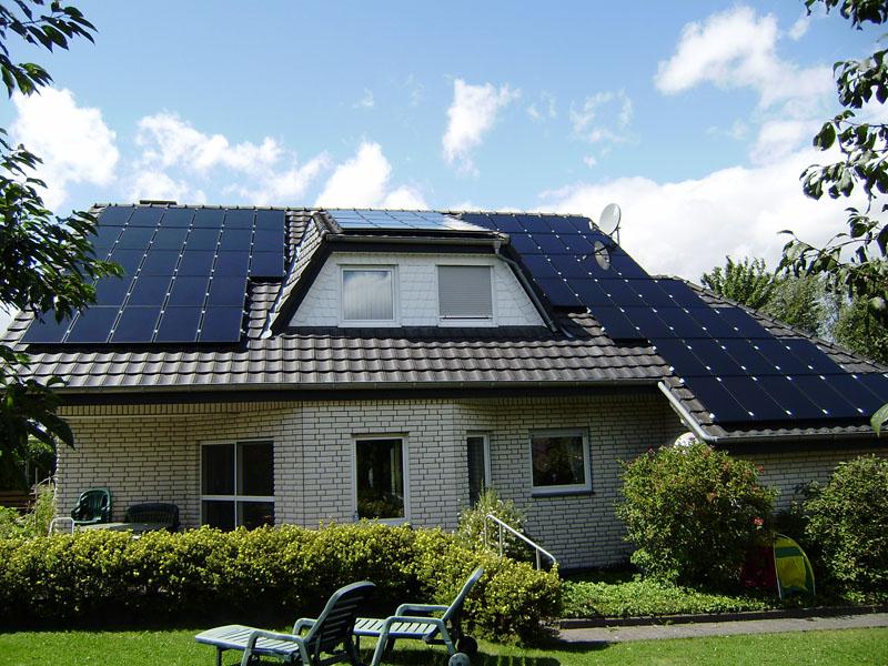дом с полным солнечным энергообеспечением