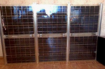 Собранная самодельная солнечная батарея