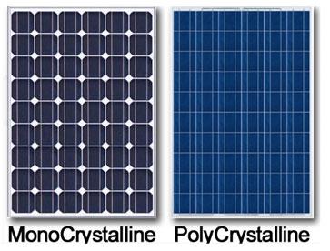 Поликристаллические и монокристаллические фотопанели