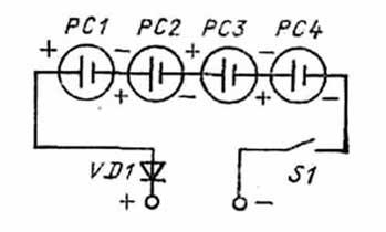 схема соединения солнечных элементов