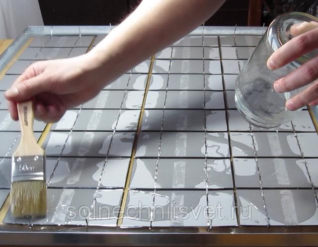 герметизация солнечной батареи компаундом