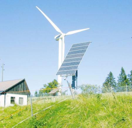 солнечные батареи и ветрогенератор