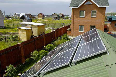 солнечная энергосистема на скатной крыше