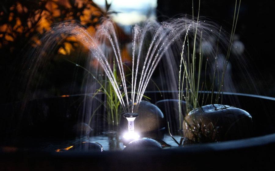 подсветка фонтана