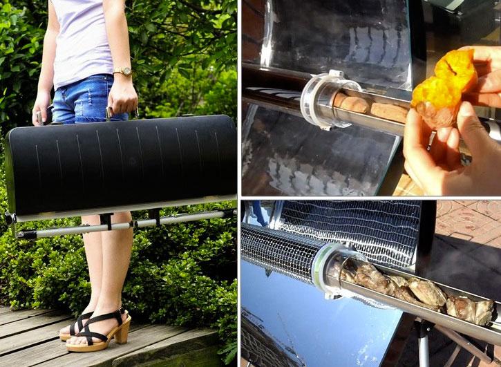 Загрузка продуктов в солнечную печь