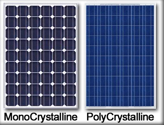 Монокристаллическая и поликристаллическая панели