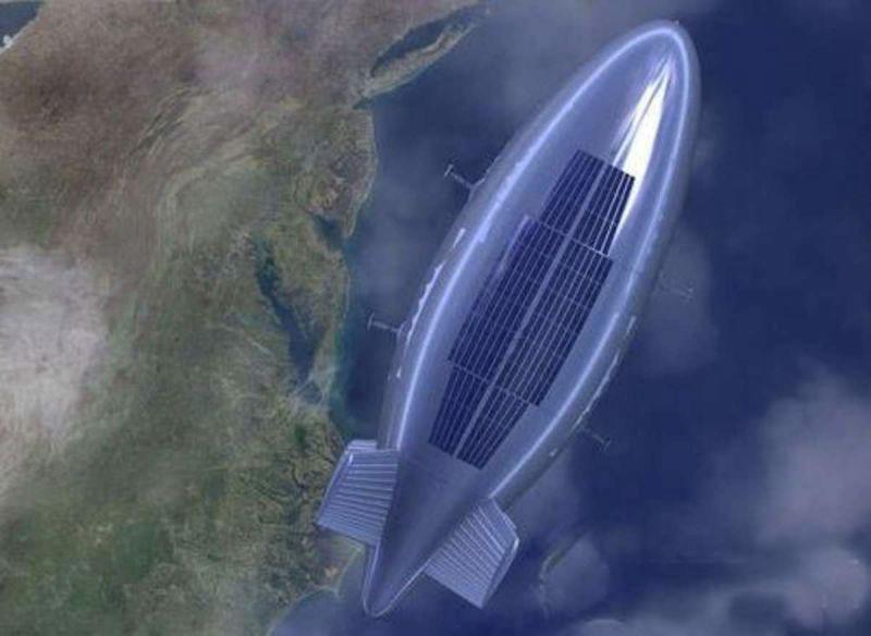 дирижабль на солнечных батареях