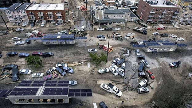 установки в зонах стихийного бедствия