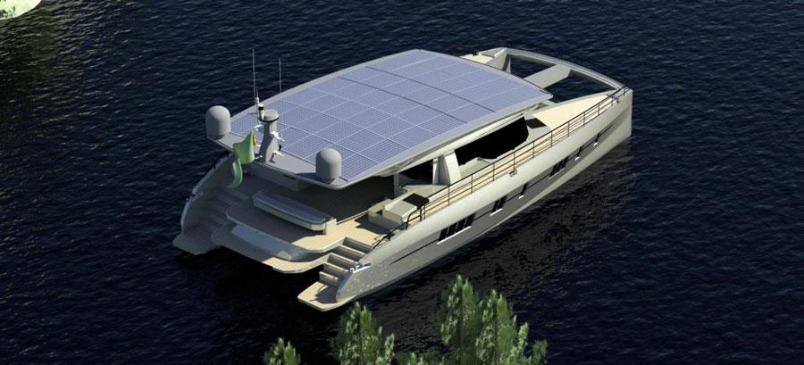 на яхте сложена крыша