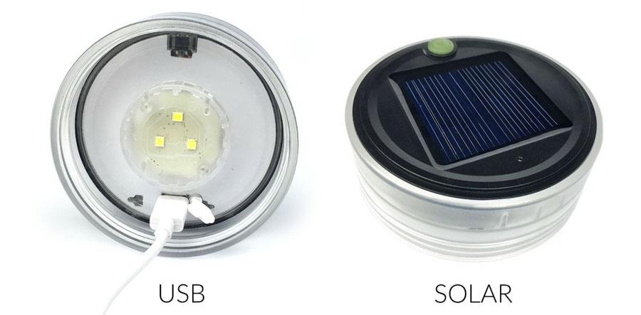 Заряд фонаря через USB-порт