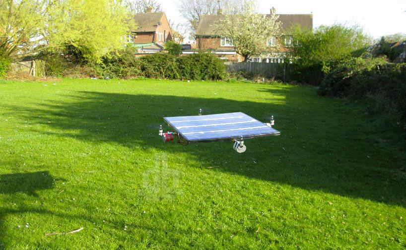 Квадрокоптер на солнечных батареях