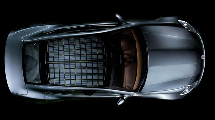 электромобиль на солнечных батареях
