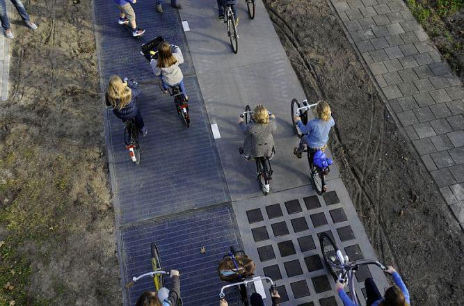 Солнечная велодорожка