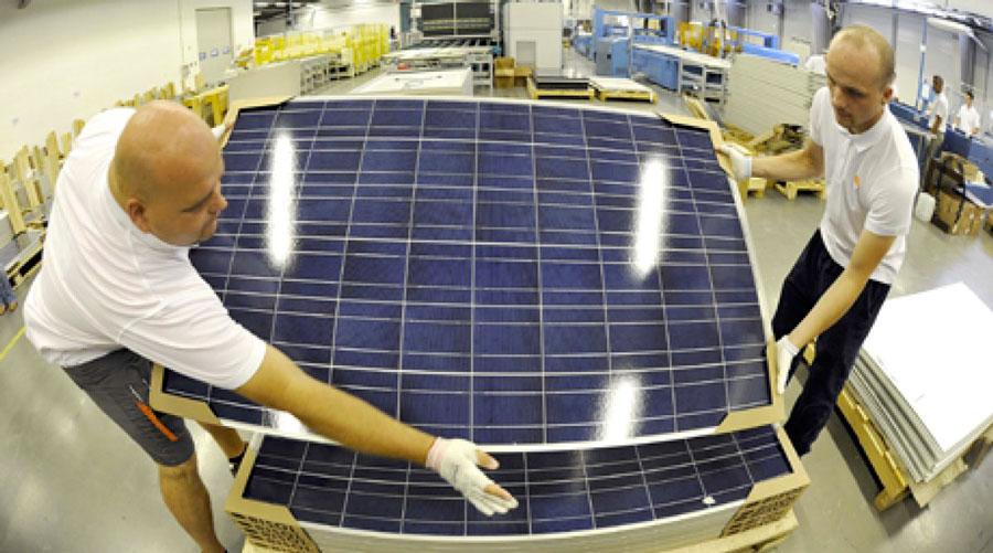 Распаковка солнечных модулей