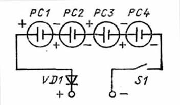 Схема соединения ячеек