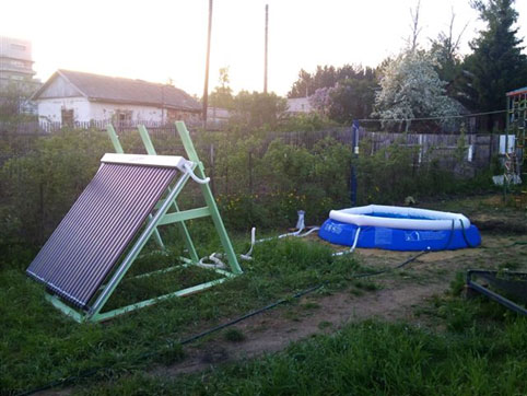 Солнечный коллектор воды для бассейна своими руками 59