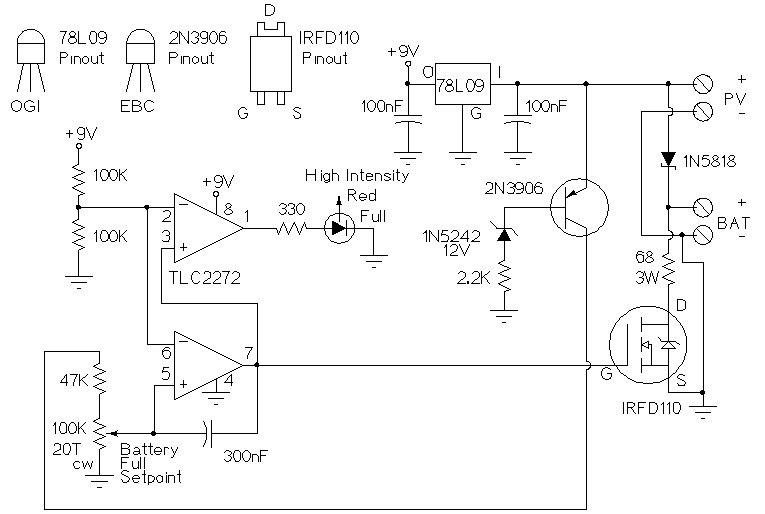 Контролер заряда схема